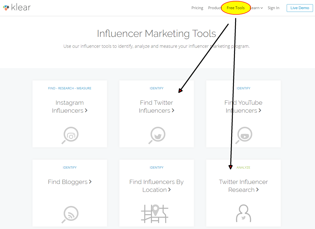 Klear.com - Free Tools to find influencers