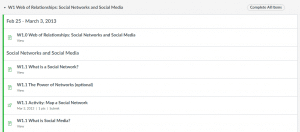 The Canvas Network's Social Media Various Modules